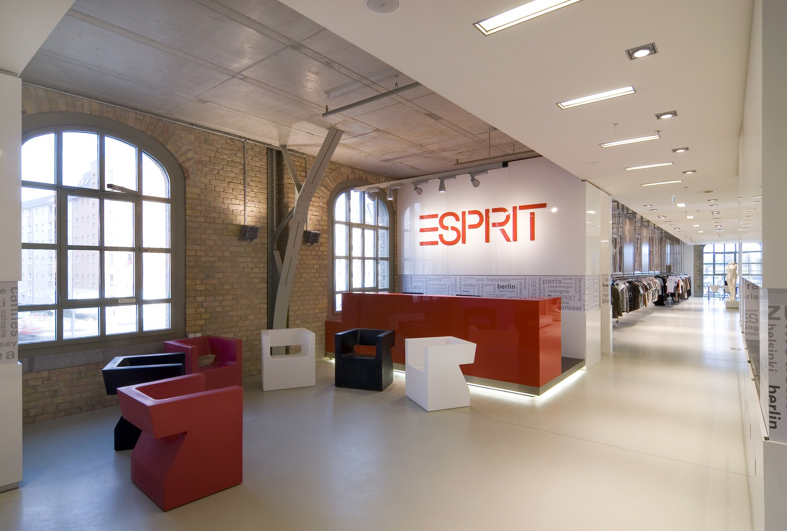 new lifestyle newest collection large discount Esprit Showroom, Berlin – 3F Design Architecture GbR